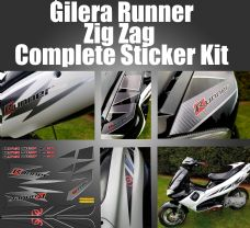 Gilera Runner ZIG ZAG Sticker/Decal Set SP FX FXR VX VXR (FL carbon/Purejet/lightning)